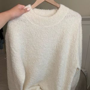 Wilfred Ivory Sweater Aritzia Alpaca/Nylon sz 2